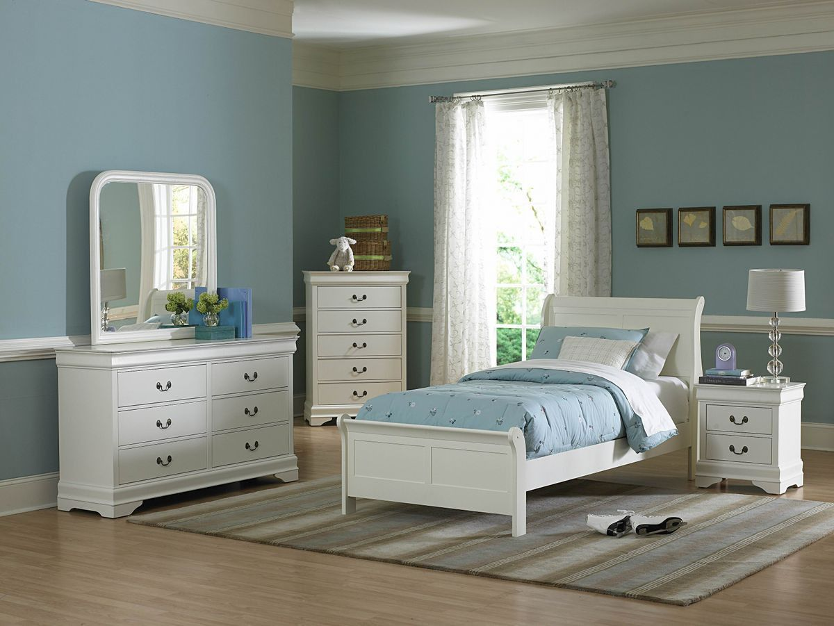 Marianne Collection Twin Sleigh Bed 539TW1The Marianne