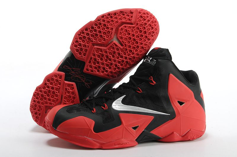 Lebron James Shoes 11 Red And Black