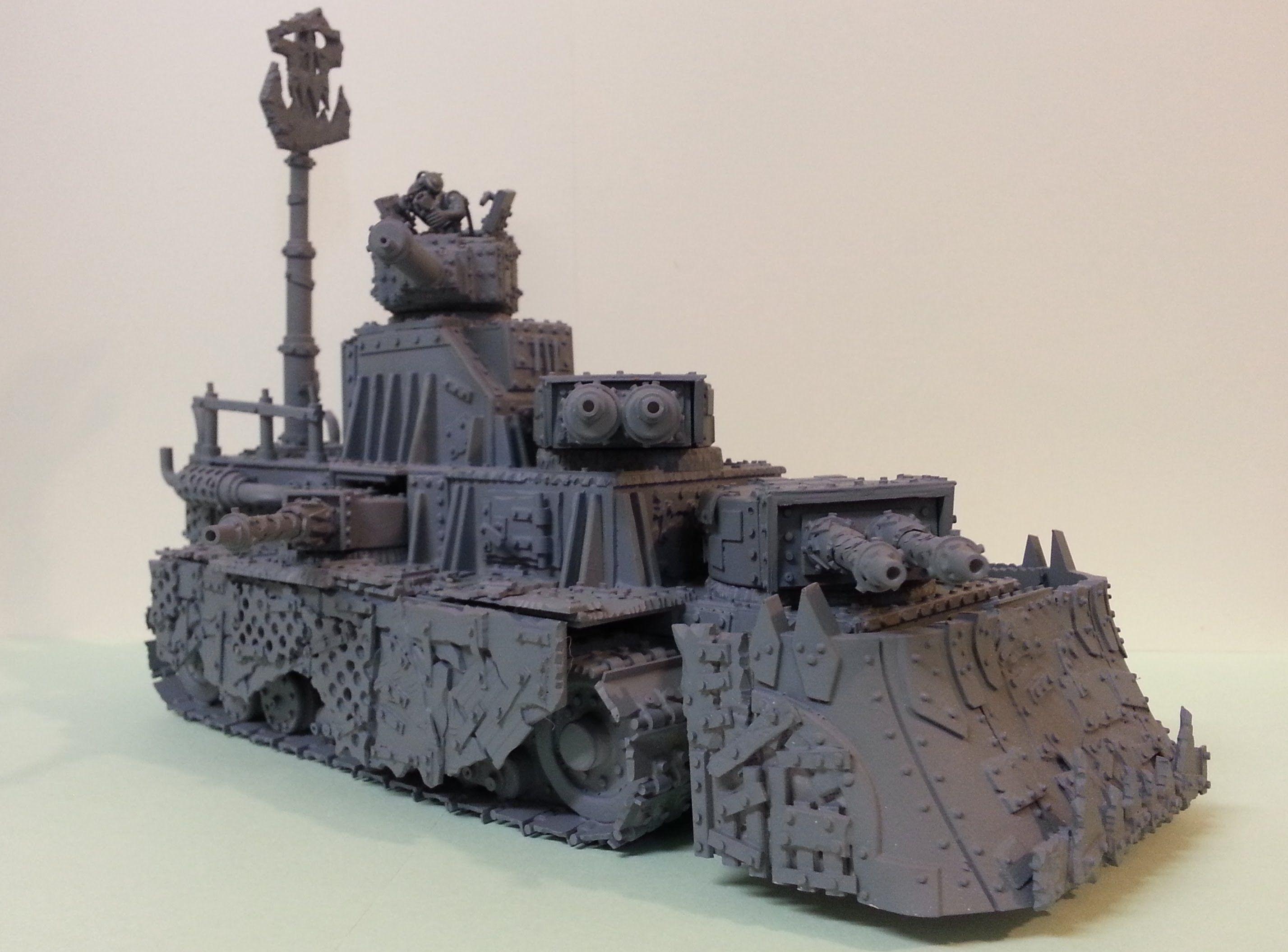 WH40k Warhammer 40k Grot Mega Tank Mk2 Chat - YouTube   orks
