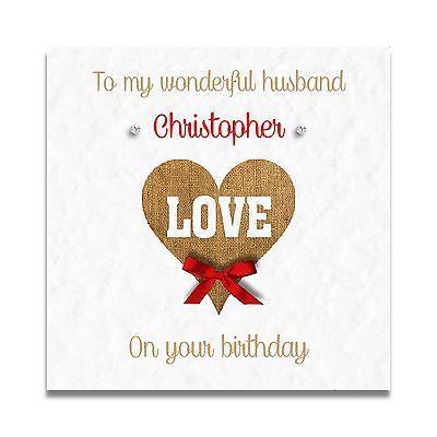 Handmade Personalised Husband Boyfriend Fiance 30th 40th 50th 60th Birthday Card