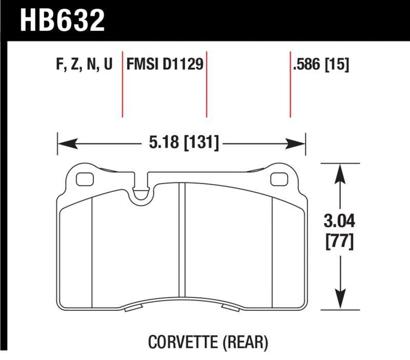 Hawk 07-14 VW Touareg/ 06-08 Aston Martin V8 Vantage/ 05