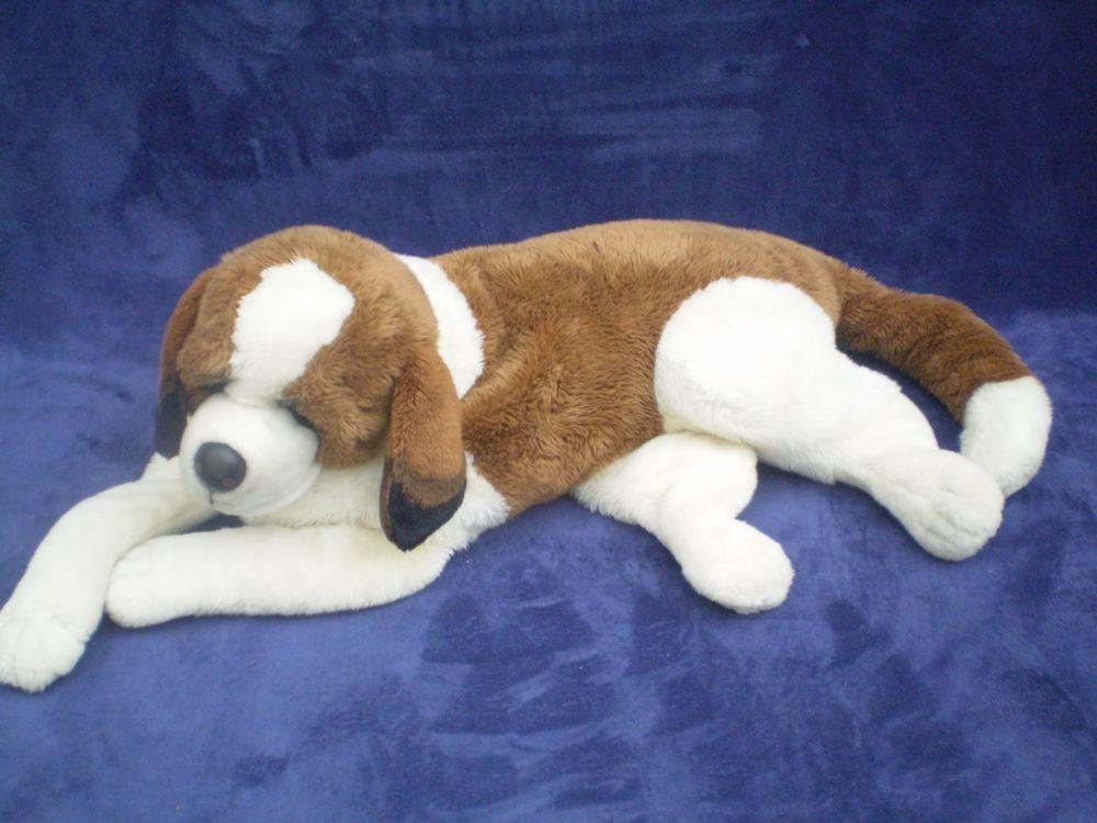 Giant Saint Bernard Puppy Dog Plush Jumbo Stuffed Animal Large Doggy