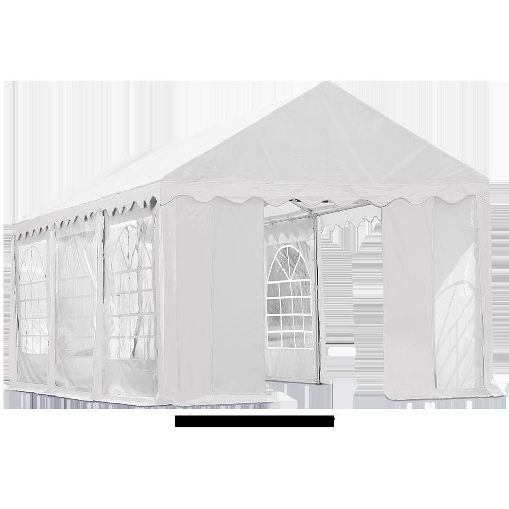 Shelterlogic 10 Ft X 20 Ft Enclosure Kit With Windows For Party Tent Party Tent Sold Separately White Tent Rent A Tent Canopy Tent