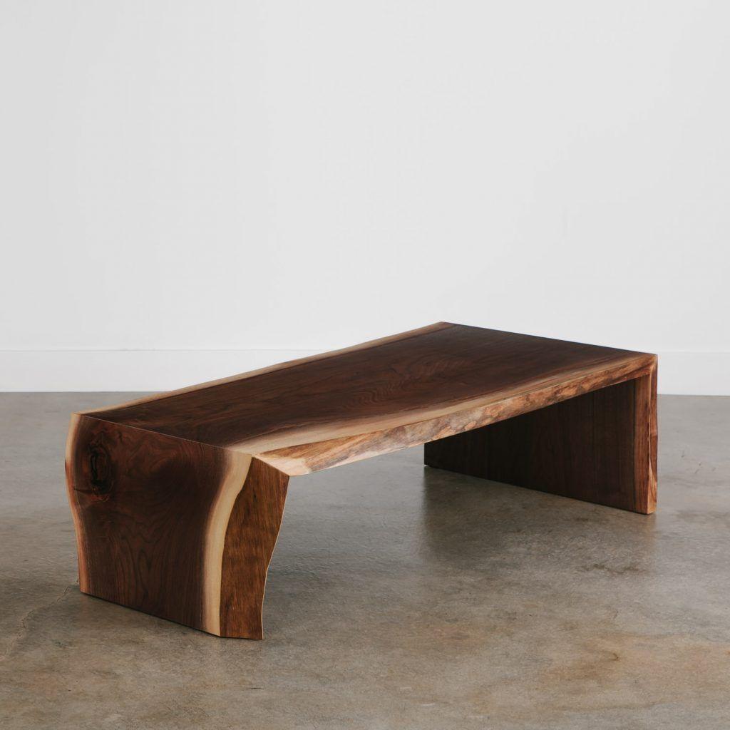 Walnut Coffee Table No 174 Elko Hardwoods Modern Live Edge Furniture Dining Coffee Tables Desks Benches Coffee Table Live Edge Furniture Live Edge Wood [ 1024 x 1024 Pixel ]