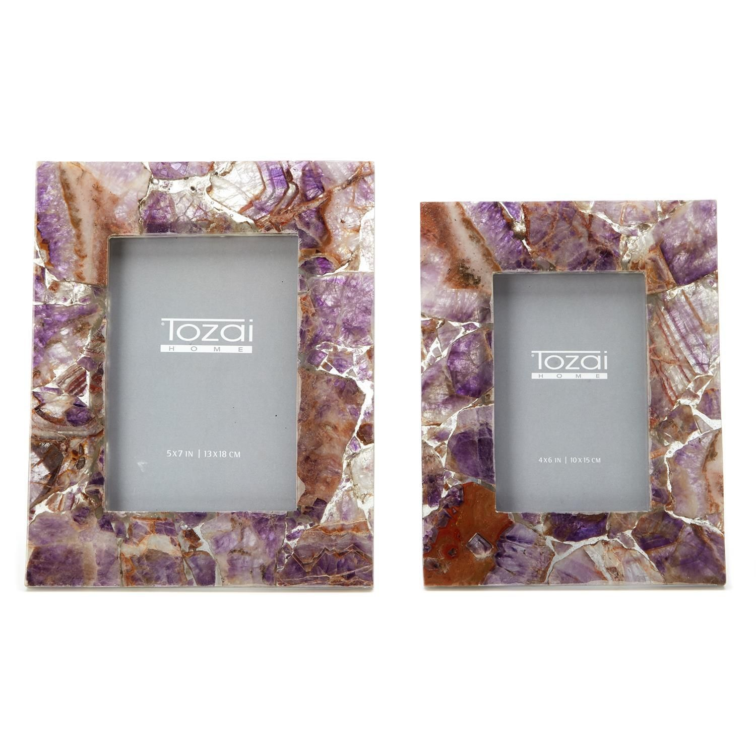 Two's Company Amethyst S/2 Photo Frames in 2020 Photo