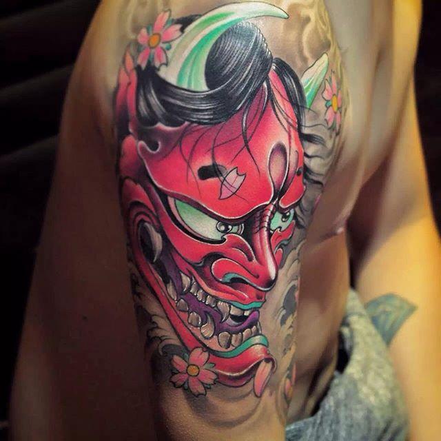 Tattoo By Cj Tattoo Hannya Mask Japanese Tattoo Style Hannyamask Tattoo Color Tattoo Tattoo On A Japanese Tattoo Japanese Tattoo Designs Hannya Mask Tattoo
