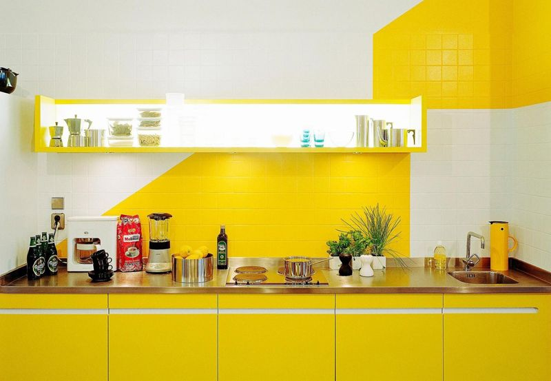 25 Cuisines Modernes Jaunes Idees Exemples Inspirations Cuisine Jaune Cuisine Moderne Couleur Cuisine