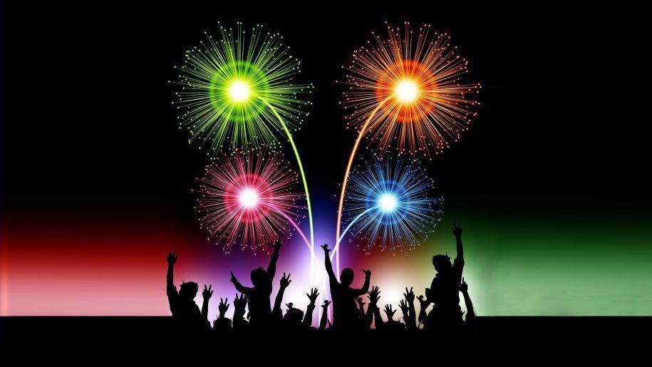 Happy New Year 2018 Celebration Animated 3d Fireworks