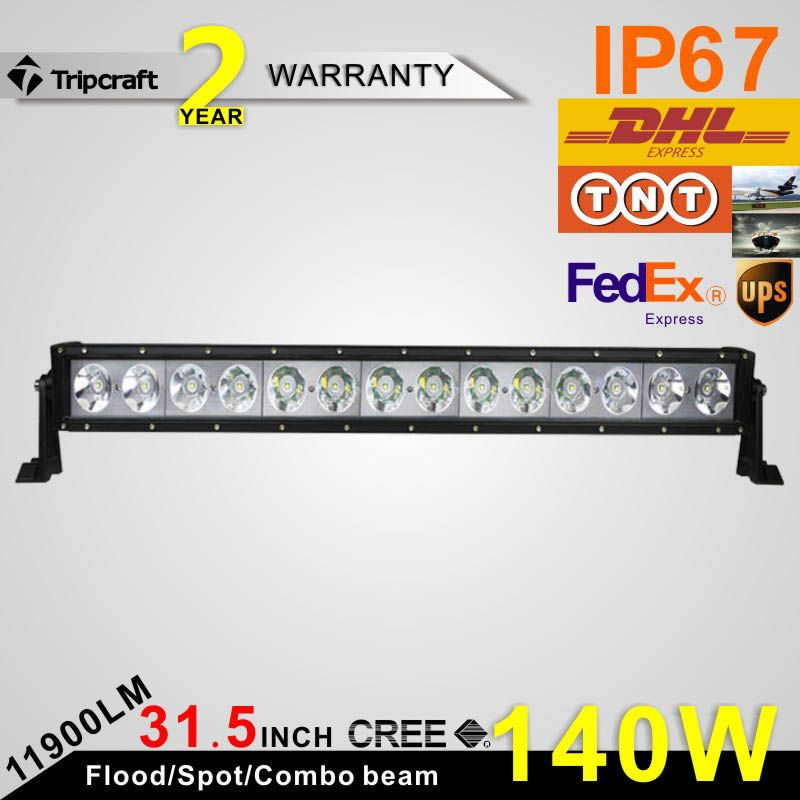 High Power 140w Led Light Bar Spot Beam 10 30v 14 X Cre E 10w 32 Inch Offroad Work Light Bar With Images Led Boat Lights Driving Work Car Led Lights
