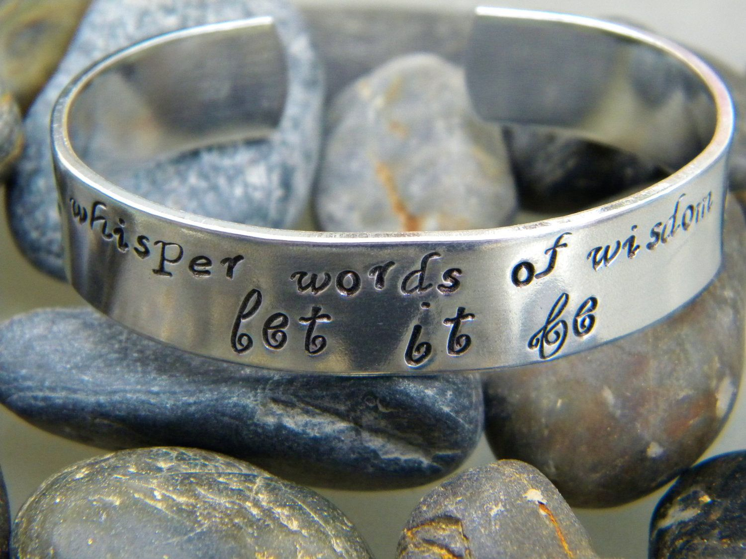 of bracelets let it whisper be wisdom collections pelican purple cuff lyric words bracelet song designs beatles