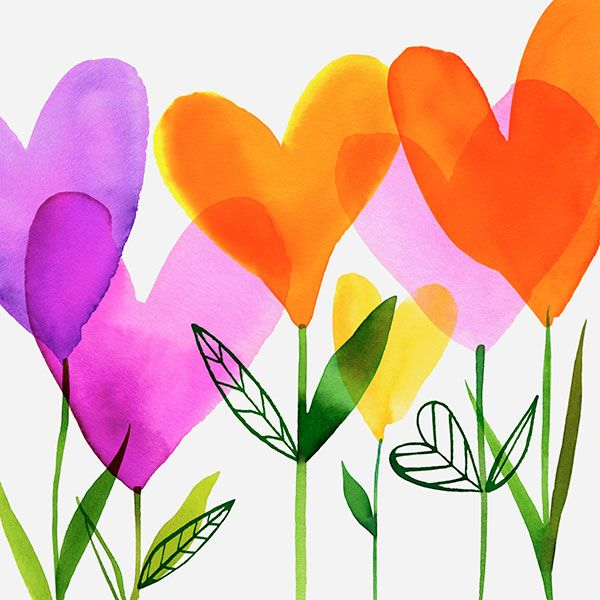 Margaret Berg Art: Heart Flowers