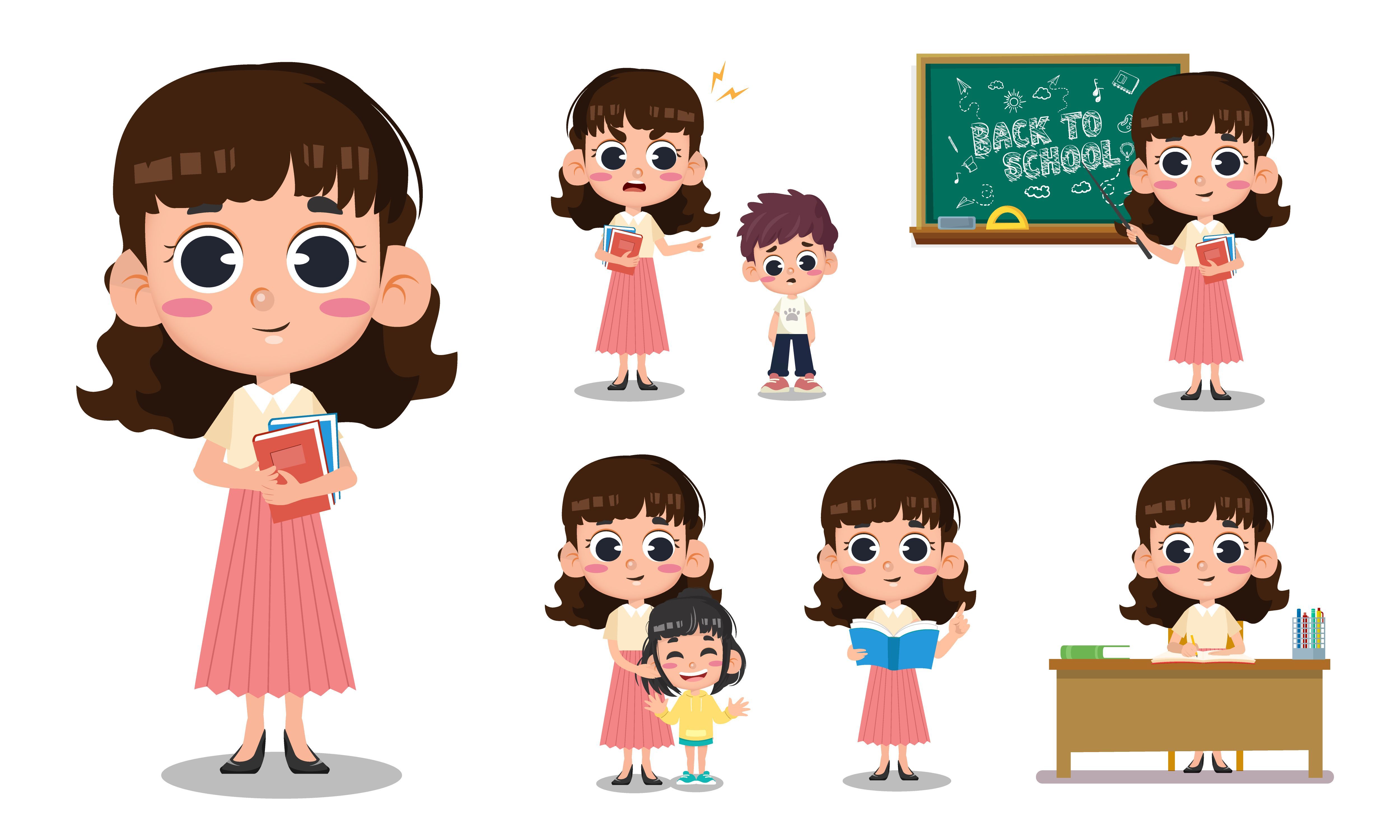 Teacher Teaching Concept Design Teacher Clipart Cartoon People Png And Vector With Transparent Background For Free Download Concept Design Character Design Banner Design