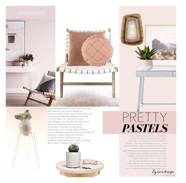 """Pretty Home Pastels"" by eyesondesign ❤ liked on Polyvore featuring interior, interiors, interior design, home, home decor, interior decorating, Ace, pasteldecor, TastemastersDesignGroup and eyesondesigninteriors"