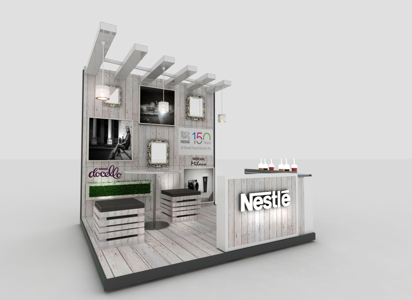 Nestle Leadership Activation Stand Pinterest  # Muebles Lozano Buga