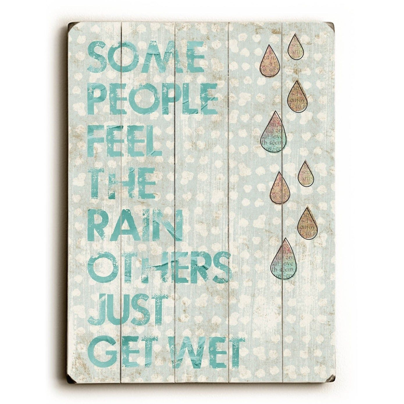 Some People - Planked Wood Wall Decor by Cheryl Overton