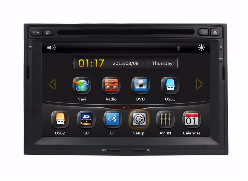 Hd 2 Din 7 Car Dvd Gps For Peugeot 3008 5008 Partner 2010 2011