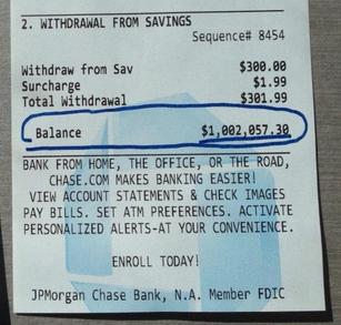 Bank receipt.