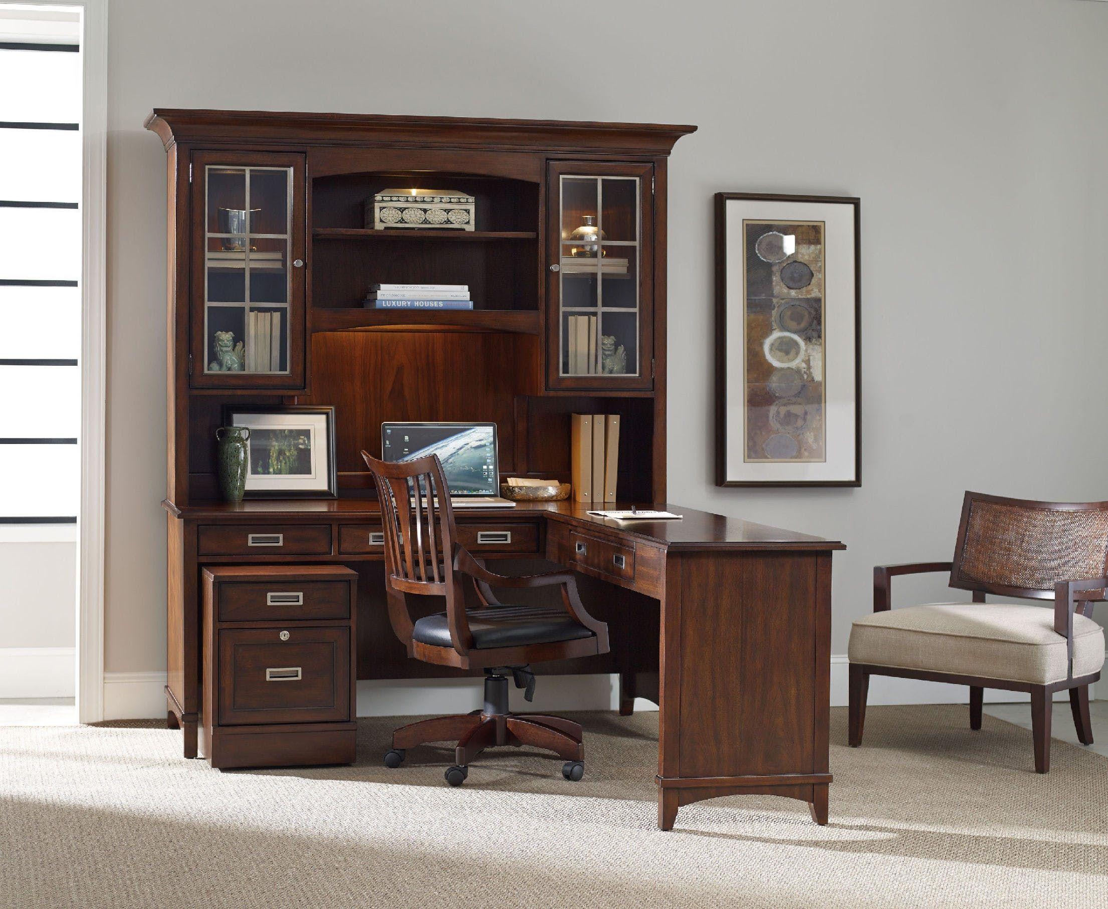 Hooker Furniture Latitude Modular Group. Writing Desk: 66x24.  Left/Right Return: 52x20.