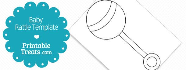 free printable baby rattle template skinny baby rattle baby
