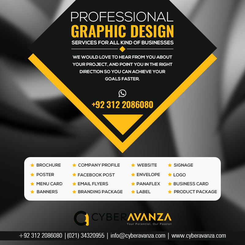 A Full List Of Our Graphic Design Services Is Below For Your