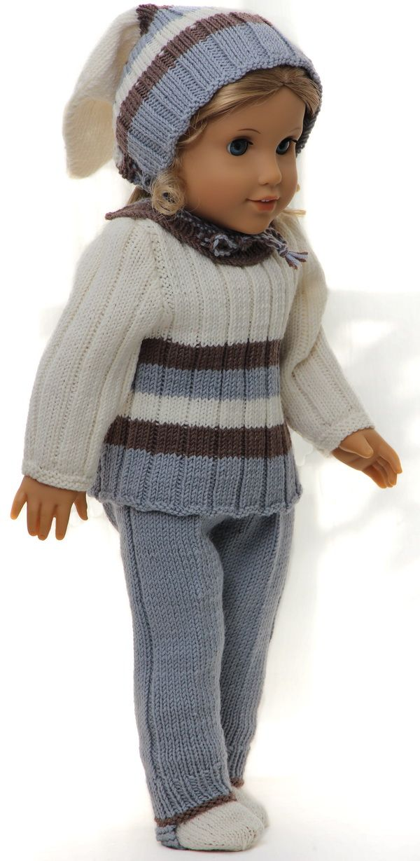 Knitting patterns for dolls clothes | American Girl Doll clothes ...