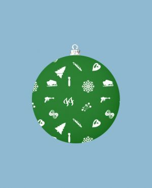 Foo Fighters Ff Green Christmas Bauble Christmas Jumpers Pinterest