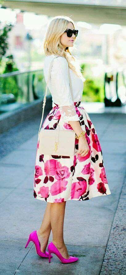 Las faldas  elegante y súper girly... Otra expresión del fiusha ... f56bc68ce3f6