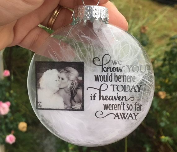 in memory ornament personalized christmas ornament memorial