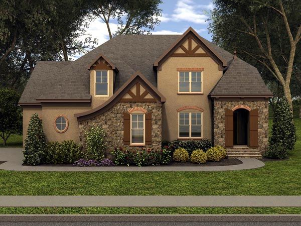 tudor house plan 53853   3 car garage, house plans and house ideas
