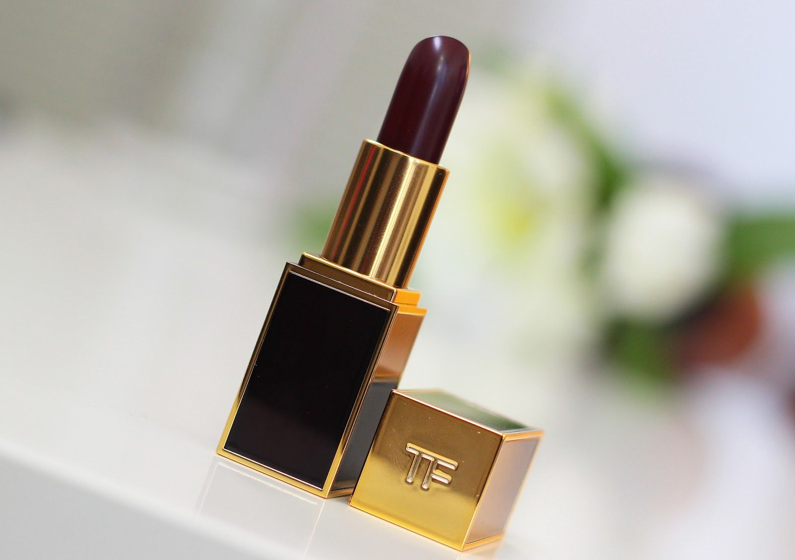 Parison Burberry Lip Cover In Deep Burgundy Vs Tom Ford Beauty Black Orchid
