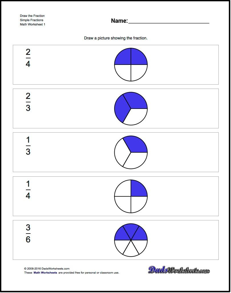 The worksheets on this page introduce visual representations of the worksheets on this page introduce visual representations of fractions and ask the student to look at pie chart forms of fractions to determine what the nvjuhfo Images