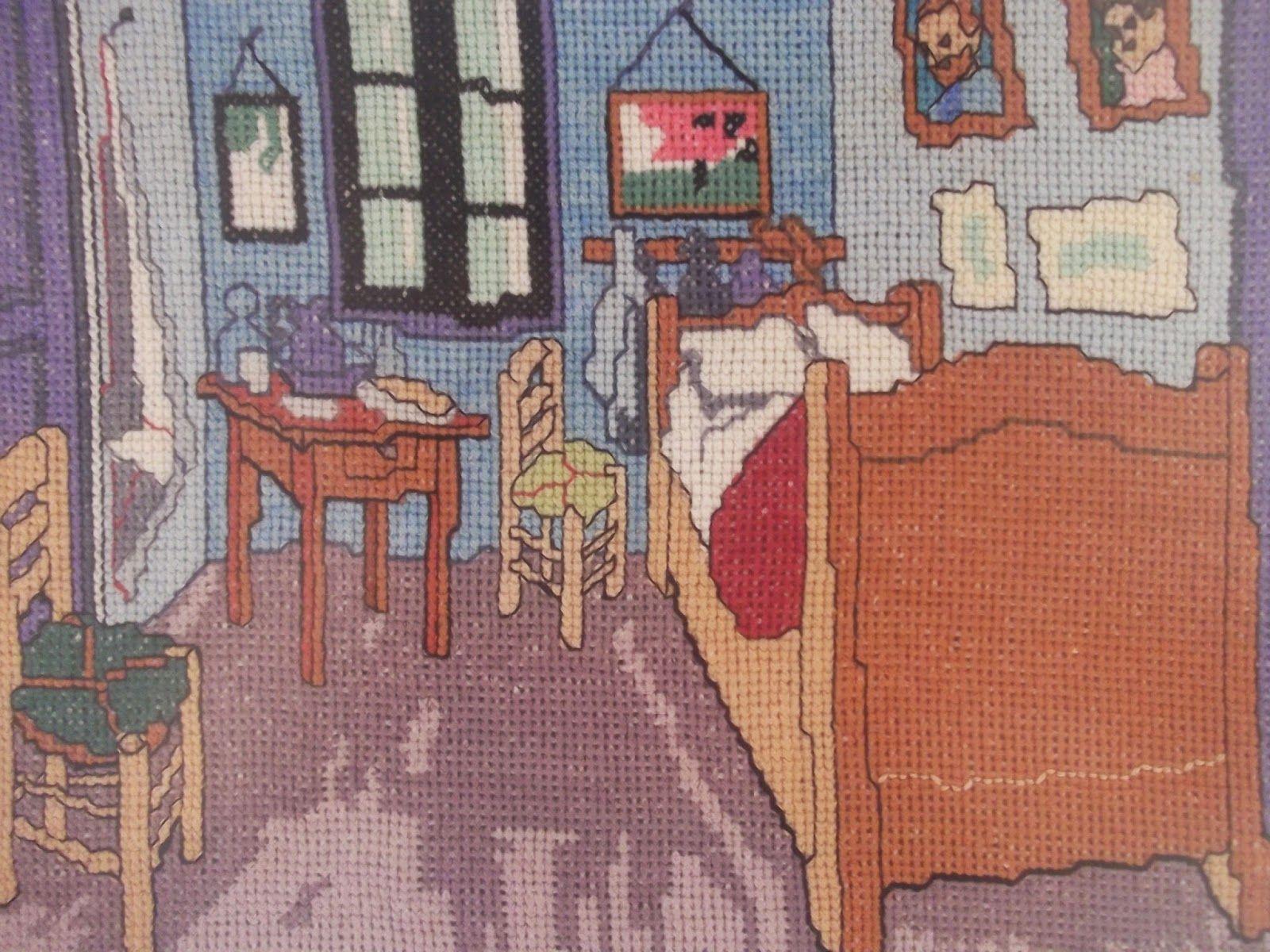 Cosas De Cari Cuadro Punto De Cruz El Dormitorio De Van Gogh En Cuadros Punto De Cruz Punto De Cruz Patrones Punto De Cruz