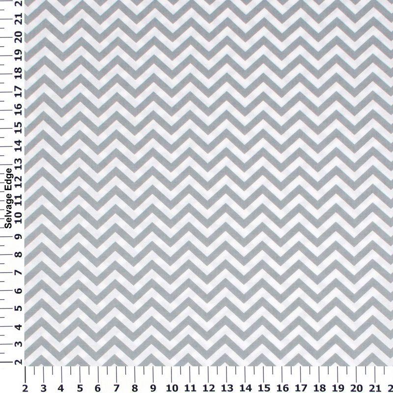 Black - Grey and White Chevron Cotton Fabric on Sale $2.99/ yd ...