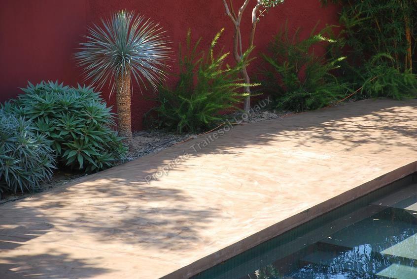 photos de sol beton ciré en exterieur Piscine Pinterest - piscine hors sol beton aspect bois