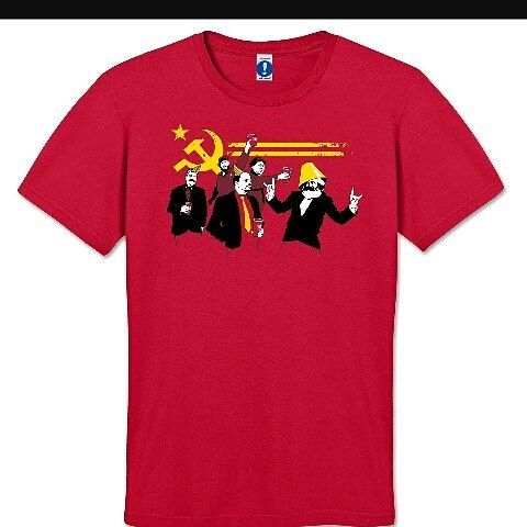 "Communist ""party"" t-shirt. I giggled a worrying amount #nerdhumor #communism #badlecturerjokes"