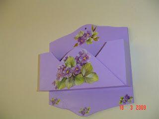 Flor de madeira - Porta Cartas