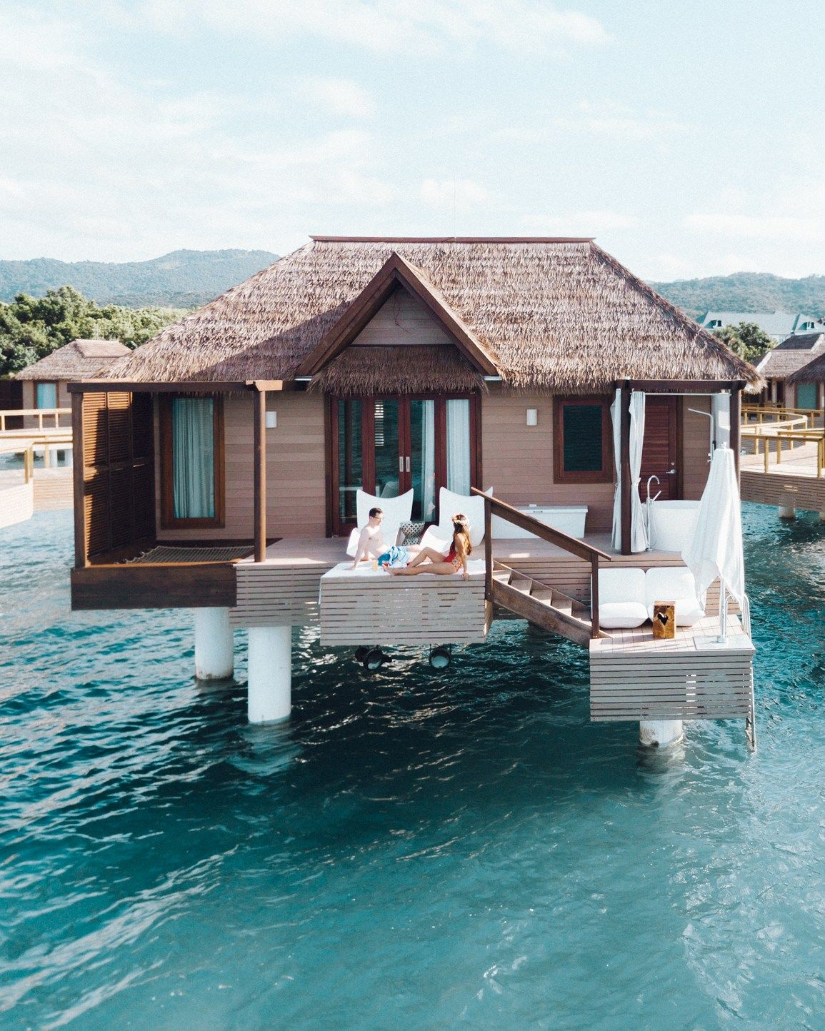 FIRST IMPRESSION OF OVERWATER BUNGALOWS AT SANDALS SOUTH