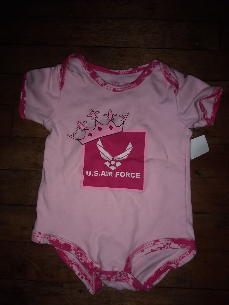 f80c202496c U.S. AIR FORCE PRINCESS Girls Size 9-12 Months Tiny Trooper 100% Cotton  Pink  fashion  clothing  shoes  accessories  babytoddlerclothing ...
