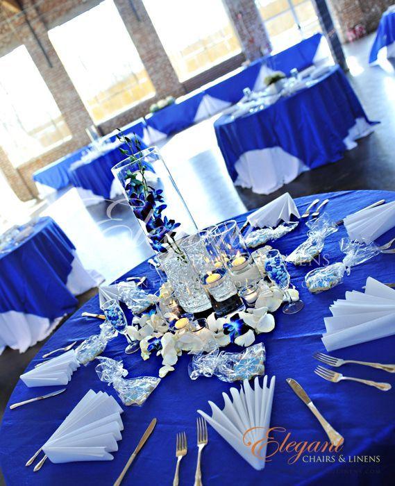 Wedding Table Decoration Navy Blue