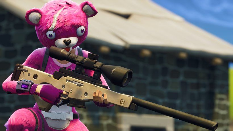 Cuddle Team Leader Sniper Rifle Fortnite Battle Royale Video Game