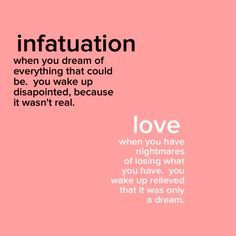 Difference between love and infatuation quotes