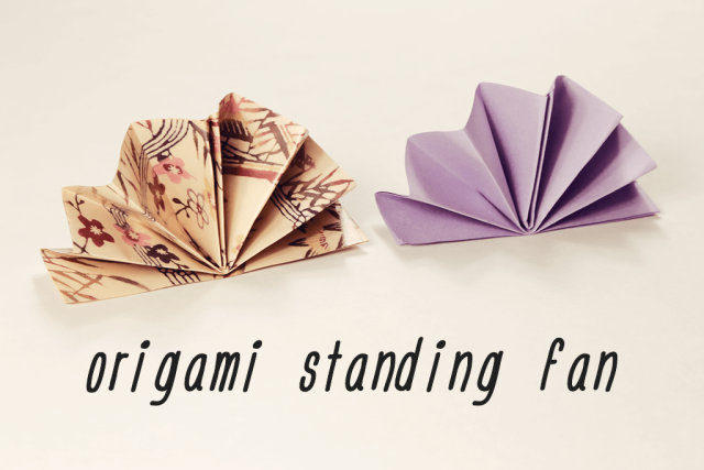 How To Fold A Standing Origami Fan Origami Pinterest Origami