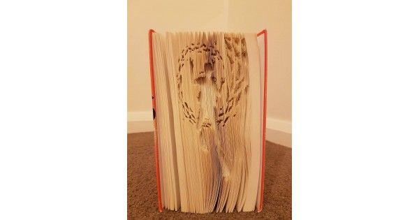 Book Folding Patterns / Templates and Book Folding Software - All Patterns - Scuba Diver - Scuba DiverCUT & FOLD OR COMBIThis is a book folding pattern to enable you to make this Scuba Diver PatternYou will need a hardback book at 21cm tall (taller bo