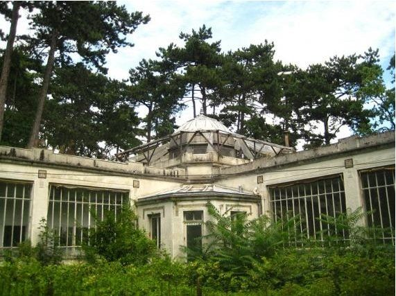 Remains of the 'Exposition Coloniale' or 'Human Zoo' outside Paris