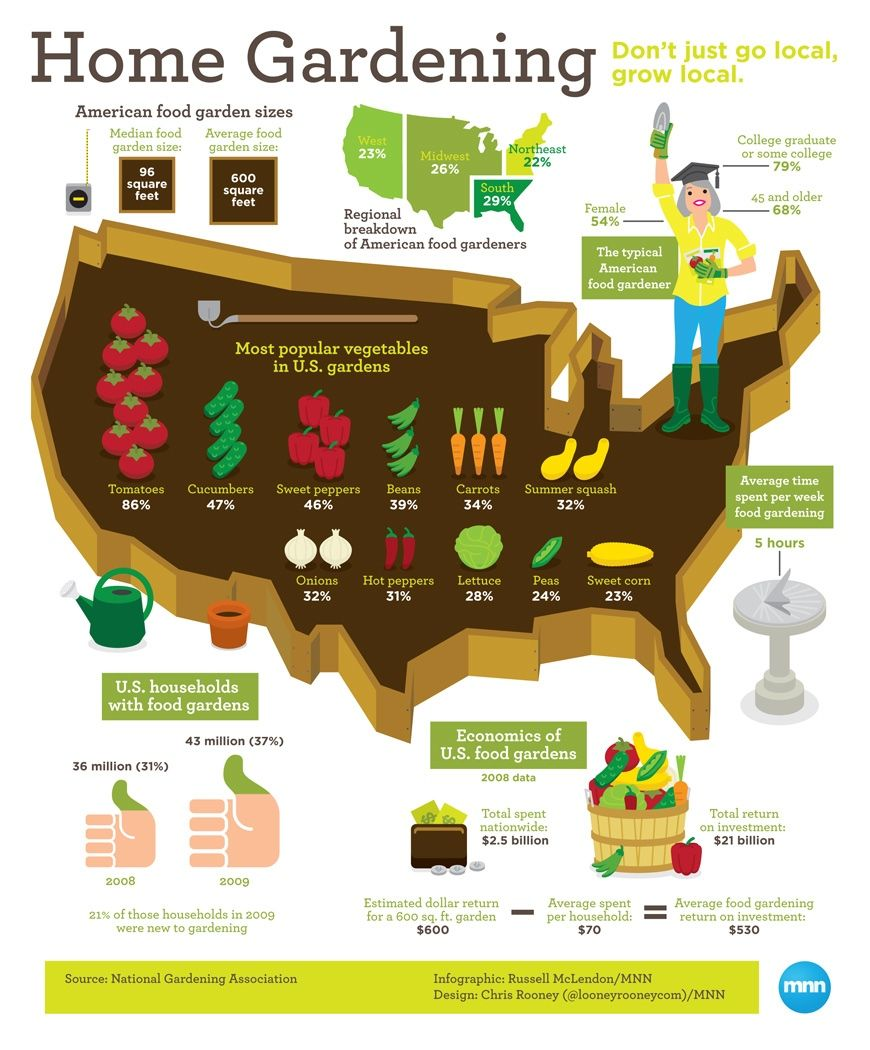 Infographic: Home gardening in the U.S.   InfoGraphics   Pinterest ...