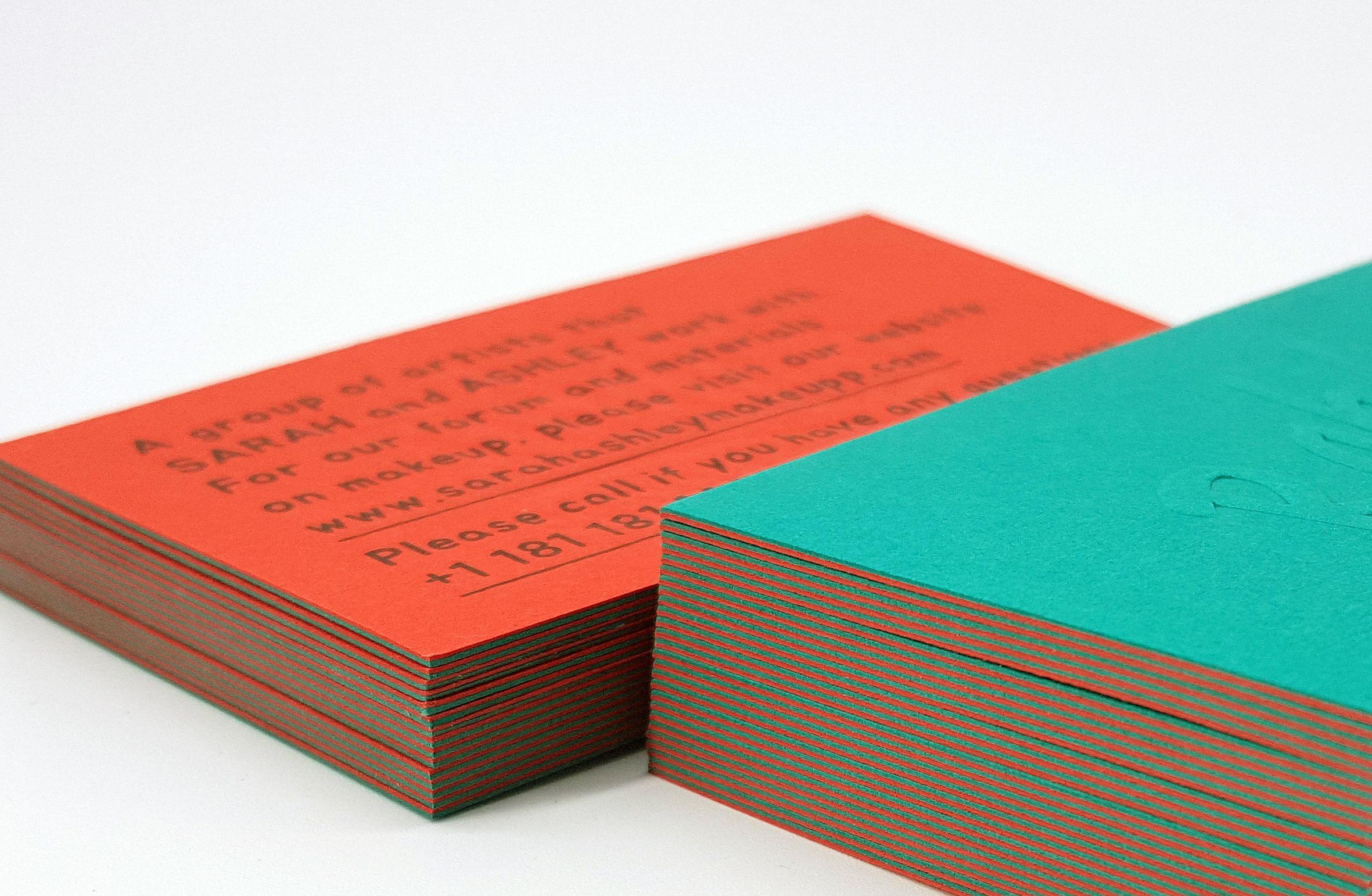 Duplex Business Cards With Swarovski Colorplan Paper Unique Business Cards Luxury Business Cards