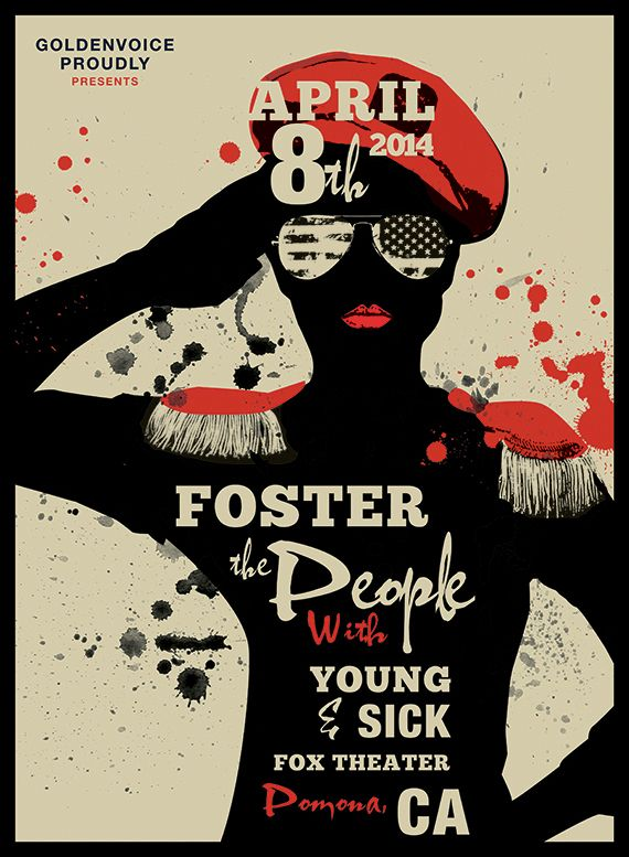 foster the people concert poster on behance music festival posters