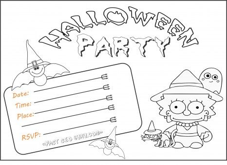 free kids halloween party invitations the simpsons lisa print outfree online halloween party invitation - Halloween Activities To Print