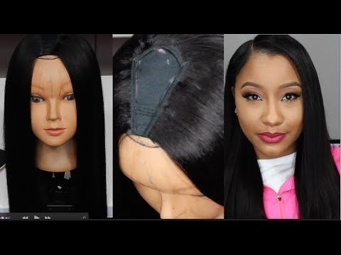 U Part Tutorial For Beginners Bonding Glue Method Jaz Jackson U Part Wig Full Lace Wig Human Hair U Part Wigs