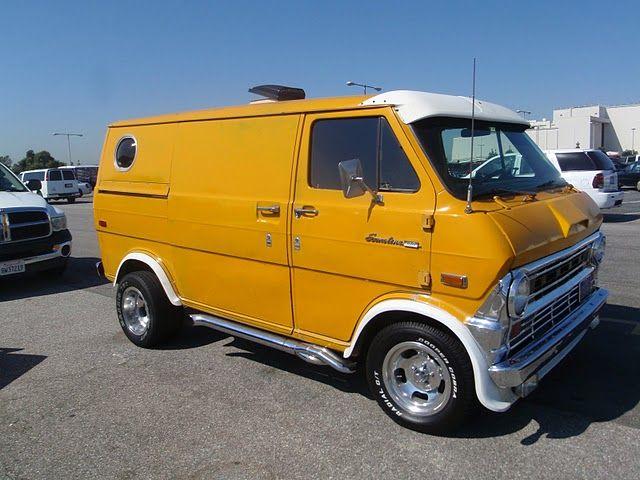 Old Biltwell Blog Mellow Yellow Ford Van Cool Vans Custom Vans